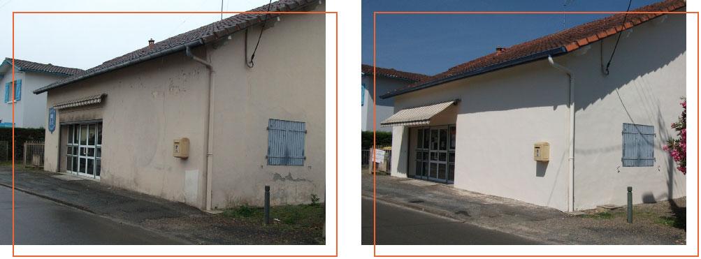 Façades rénovées par l'entreprise FAÇADES 40 au CLUB DU 3ÈME AGE DE MONT DE MARSAN (40000)