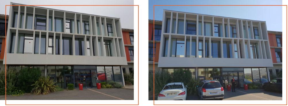 Façades rénovées par l'entreprise ESPACE FAÇADES (31) à la MAISON DE RETRAITE DE QUINT-FONSEGRIVES (31130)
