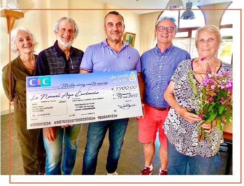 Don remis par Régis BOUCHET dirigeant de 3R-FAÇADES (69) à L'ASSOCIATION NOUVEL AGE CURISSOIS